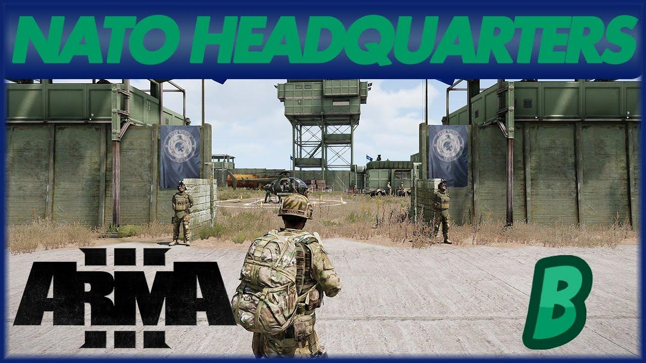 ARMA 3 - EDEN EDITOR NATO Headquarters (Timelapse)
