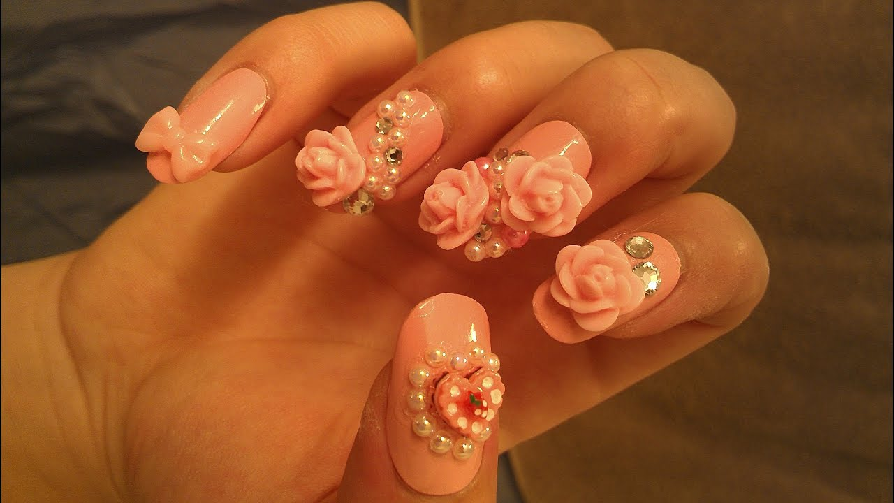 How to make kawaii nails japanese 3d nail art youtube prinsesfo Gallery