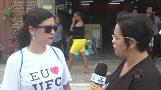 Professora Silvia Viana, fala sobre a importância da manifestação como aula de cidadania.