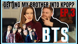 Download lagu I TRIED GETTING MY BROTHER INTO BTS?!? | Lexie Marie