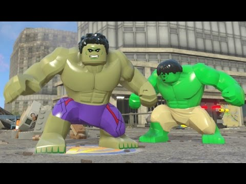 lego marvels avengers  hulk open world super jumping character showcase