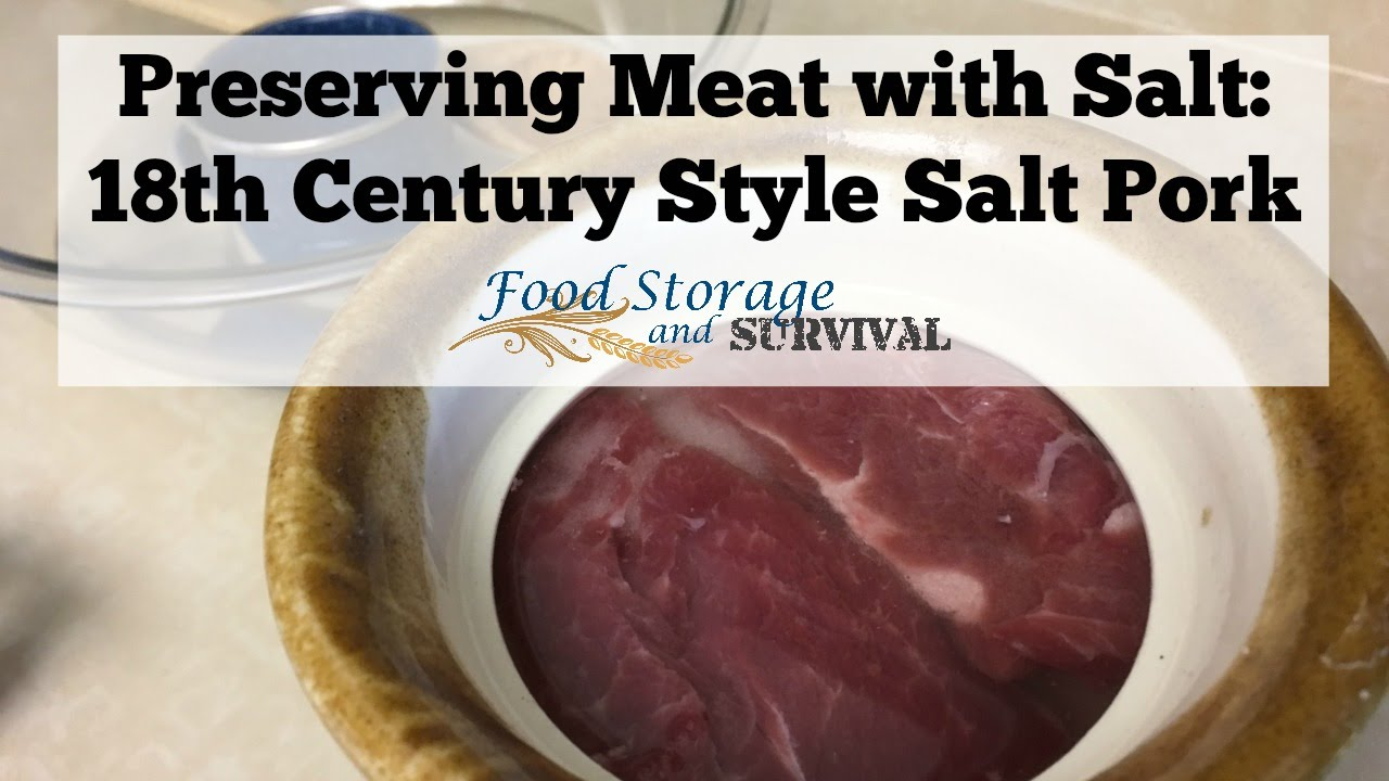 Preserving meat with salt 18th century style salt pork youtube forumfinder Gallery