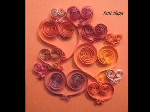 Carte st valentin en papier roul quilled valentine 39 s - Carte saint valentin a fabriquer ...