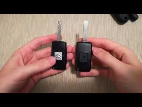Citroen Peugeot key remote controller replacement
