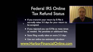 Federal IRS Online Tax Refund Status for 2012, 2013