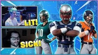 Streamers React to *NEW* OG NFL FOOTBALL SKINS in Fortnite