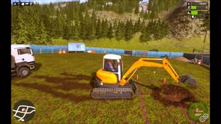 Construction Simulator 2015 first time playing (tutorial section)