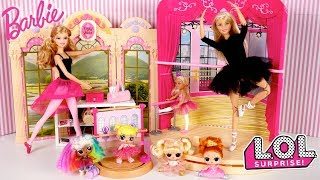 Barbie LOL Family After School Routine - Baby Goldies First Ballet Class