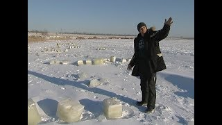 На унікальному озері Тагарское виявлено більше тисячі выпиленных лунок