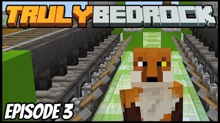 Spawner And 20 Furnace Smelting Array! - Truly Bedrock (Minecraft Survival Let's Play) Episode 3