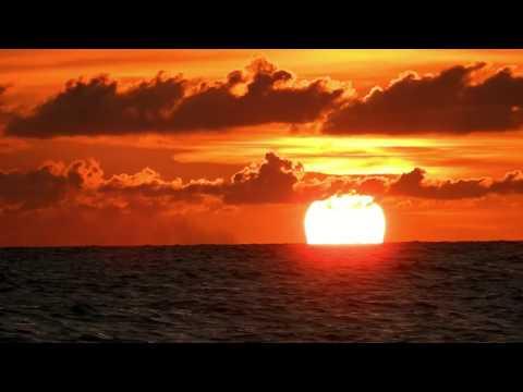 Sunset on the globe...