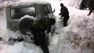 Передвижение на УАЗе по глубокому снегу. Закан- Карапырь
