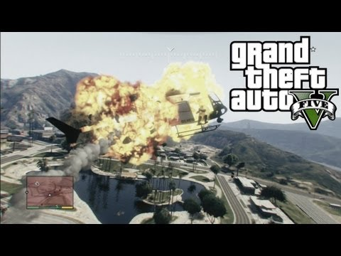 GTA V - Choppa Fight w/ Cops
