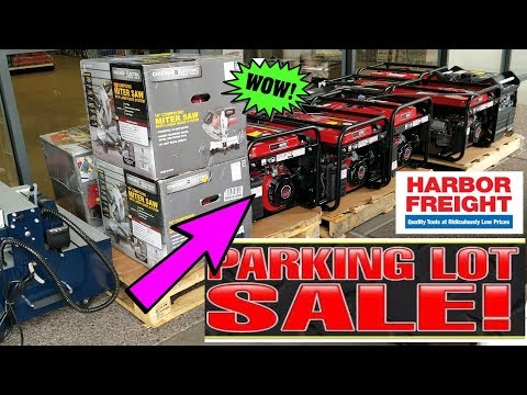 Parking Lot Sale|Shopping at Harbor Freight (October 2018)