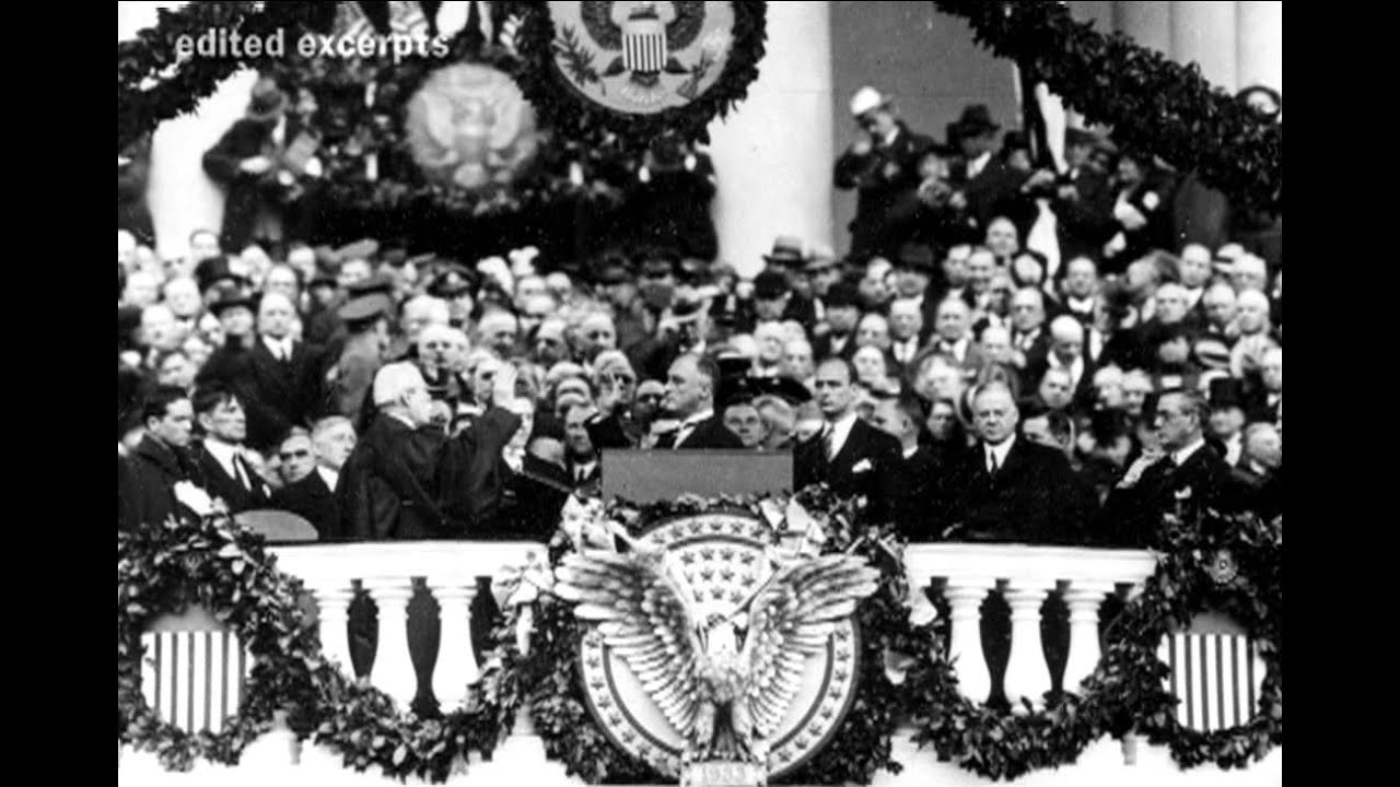 franklin d roosevelt inaugural speech President franklin d roosevelt gives his fourth inaugural speech january 20, 1945 outside the south portico of the white house in washington dc.