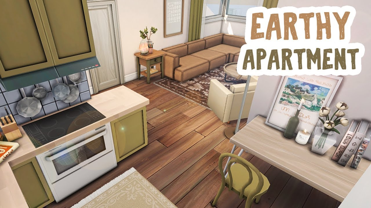 Download Earthy Apartment || The Sims 4 Apartment Renovation: Speed Build