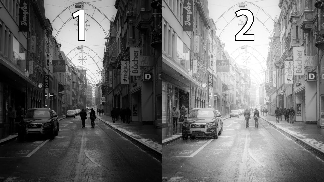 Lightroom 6 black and white street photography editing tutorial 2 different looks with 1 raw file