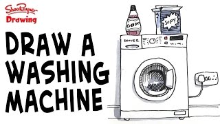 How to draw a washing machine