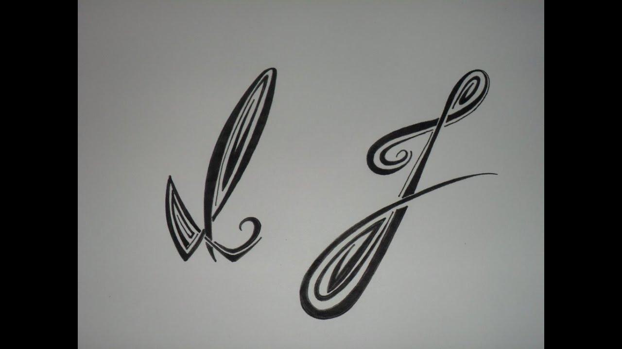 Letras tribales i y j bases elementales para dibujar letras tribales youtube - Dibujos tribales para tatuar ...