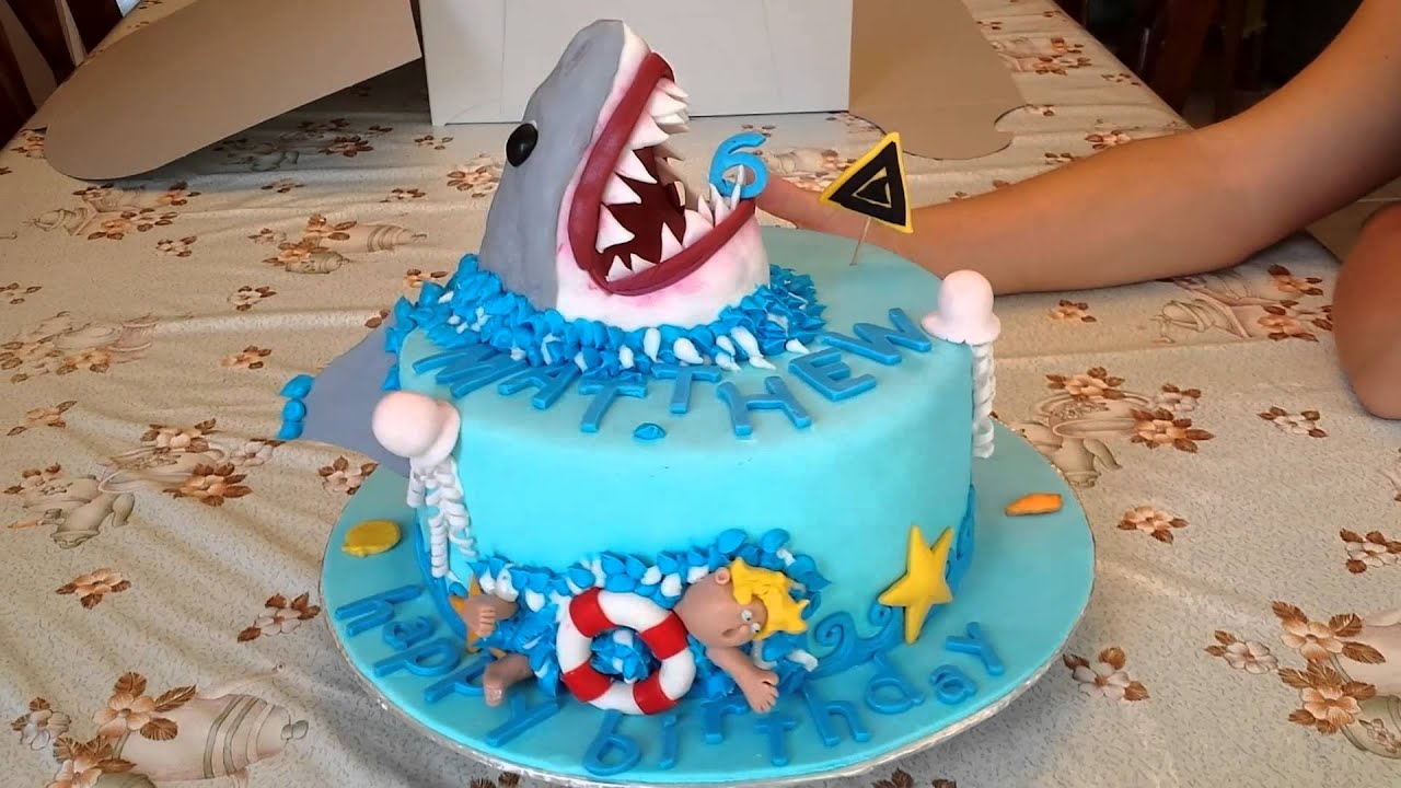 Shark Cake Sharknado And Jaws Inspired Great White Cake Youtube