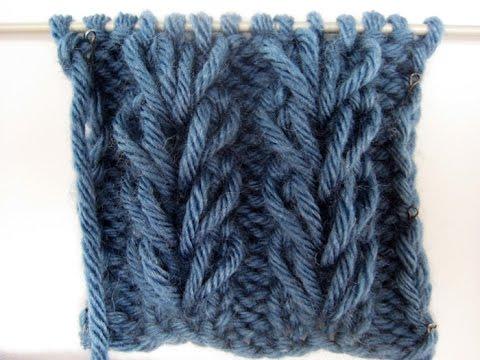 Вязание колоски на вытянутых петлях 80