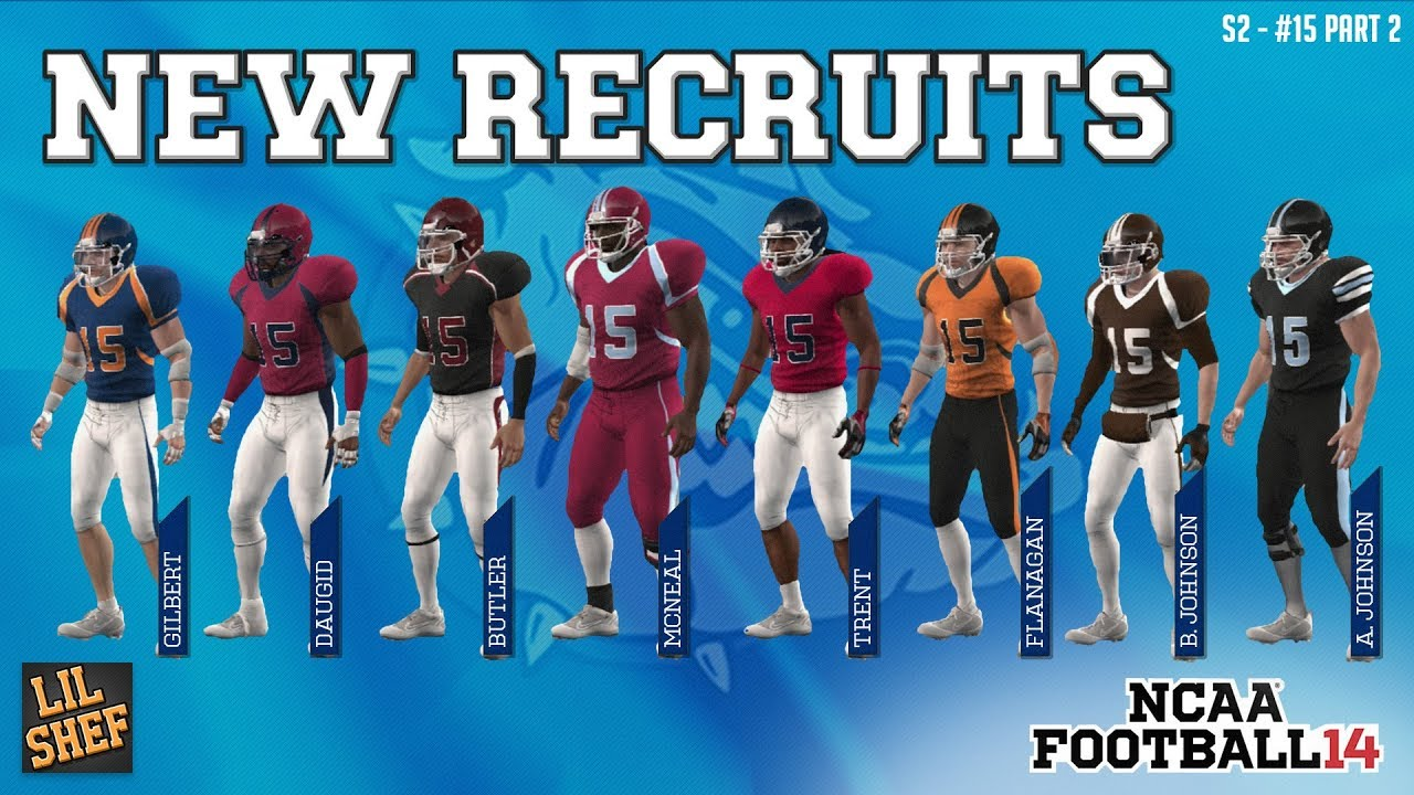 low priced 2a2ee 74779 NEW CUSTOM RECRUITS | NCAA Football 14 Teambuilder
