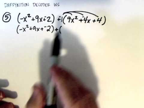 Daffynition Decoder WS number 5 - YouTube
