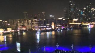 Фонтан в Дубаи + лазерное шоу 2013