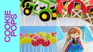 HOW TO MAKE COOKIE POPS, COOKIE LOLLIPOPS