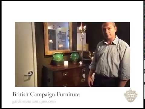 British Campaign Furniture at Garden Court Antiques, San Francisco