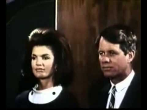 May 4, 1967 - Jacqueline & Robert F. Kennedy receiving gift from CBS News and NBC News (Color)