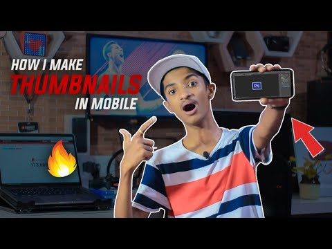 HOW I MAKE PROFESSIONAL THUMBNAILS FROM MY SMARTPHONE !!!