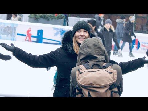 NEW YORK CITY 2018: A SNOWFALL BEFORE CHRISTMAS! [4K]
