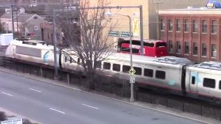Passenger Train Action in New London, CT 3-22-16