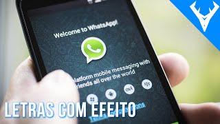 Como fazer letras BRILHANTES no whatsapp sem Aplicativos