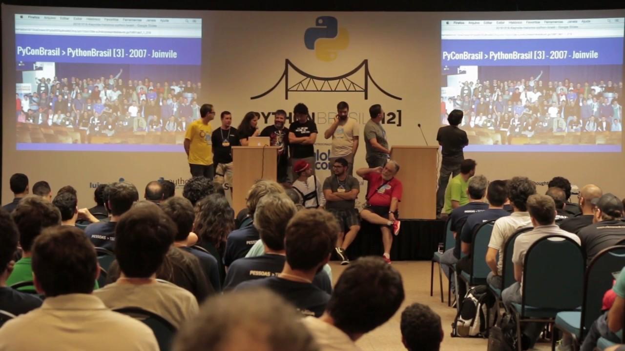 Image from Histórico das conferências Python Brasil