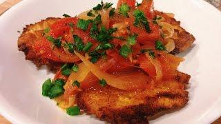 Patacones Con Hogao (colombian Dish)