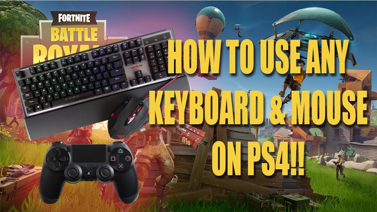 How to Mouse and Keyboard on PS4 (Fortnite Battle Royale)