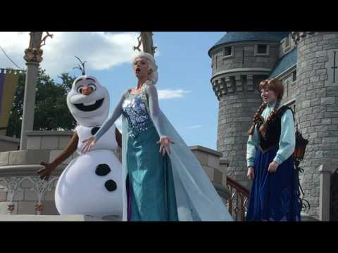 Magic Kingdom Castle Show 2016 Disney World