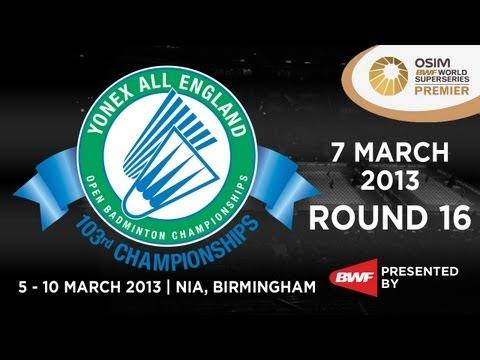 R16 - WS - Tine Baun vs Han Li - 2013 Yonex All England Open Badminton Championships