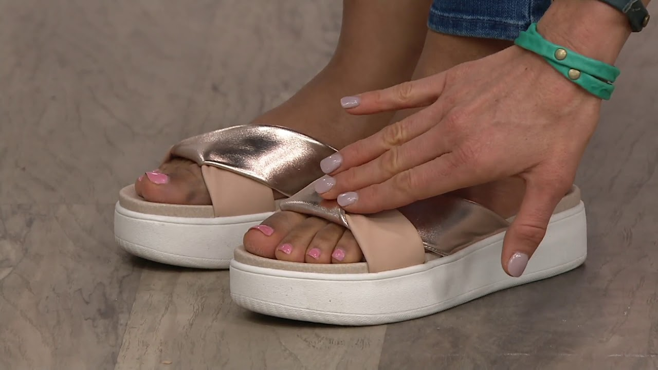 f1f3b7eef Aerosoles x Martha Stewart Platform Sandals - Ceramic on QVC - YouTube