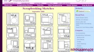 SITIOS PARA DESCARGAR  BOCETOS GRATIS (TIPS SCRAPBOOK)