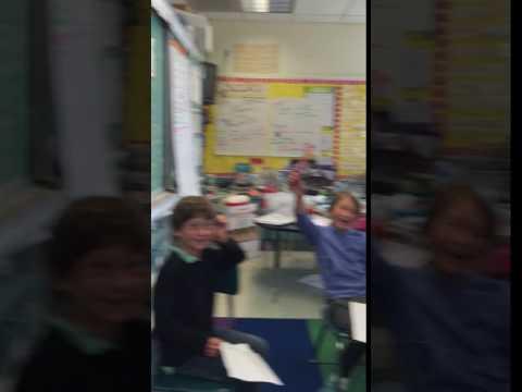 Teaching a music class at Argonne Elementary School