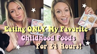 Eating Only My Favorite Childhood Foods For 24 Hours! | lunchables, kid cuisine + toaster strudels
