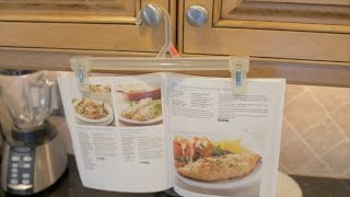 Make Space with a Cookbook Hanger