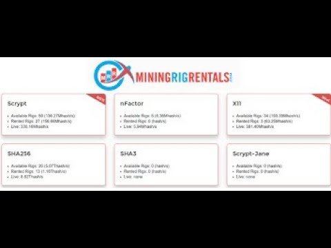 How to Rent a Mining Rig from MiningRigRentals   Ethereum, ZCash and Bitcoin Mining Rigs