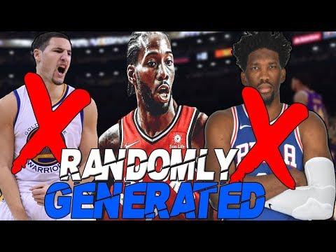 RANDOMLY GENERATED TEAM REBUILDING CHALLENGE IN NBA 2K19 - 동영상