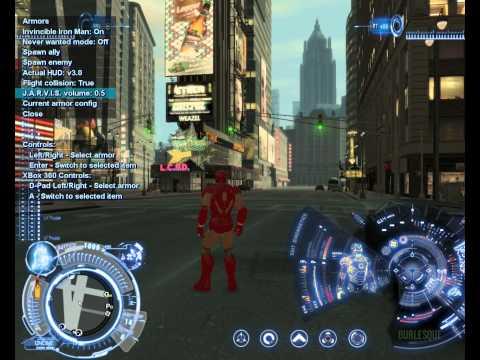 Test mod Iron Man trong GTA IV