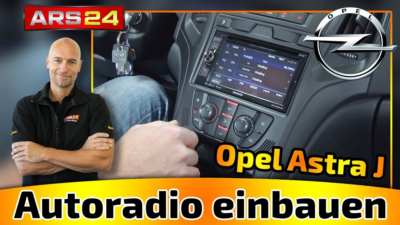 autoradio einbauen im opel astra j welche adapter bra doovi. Black Bedroom Furniture Sets. Home Design Ideas