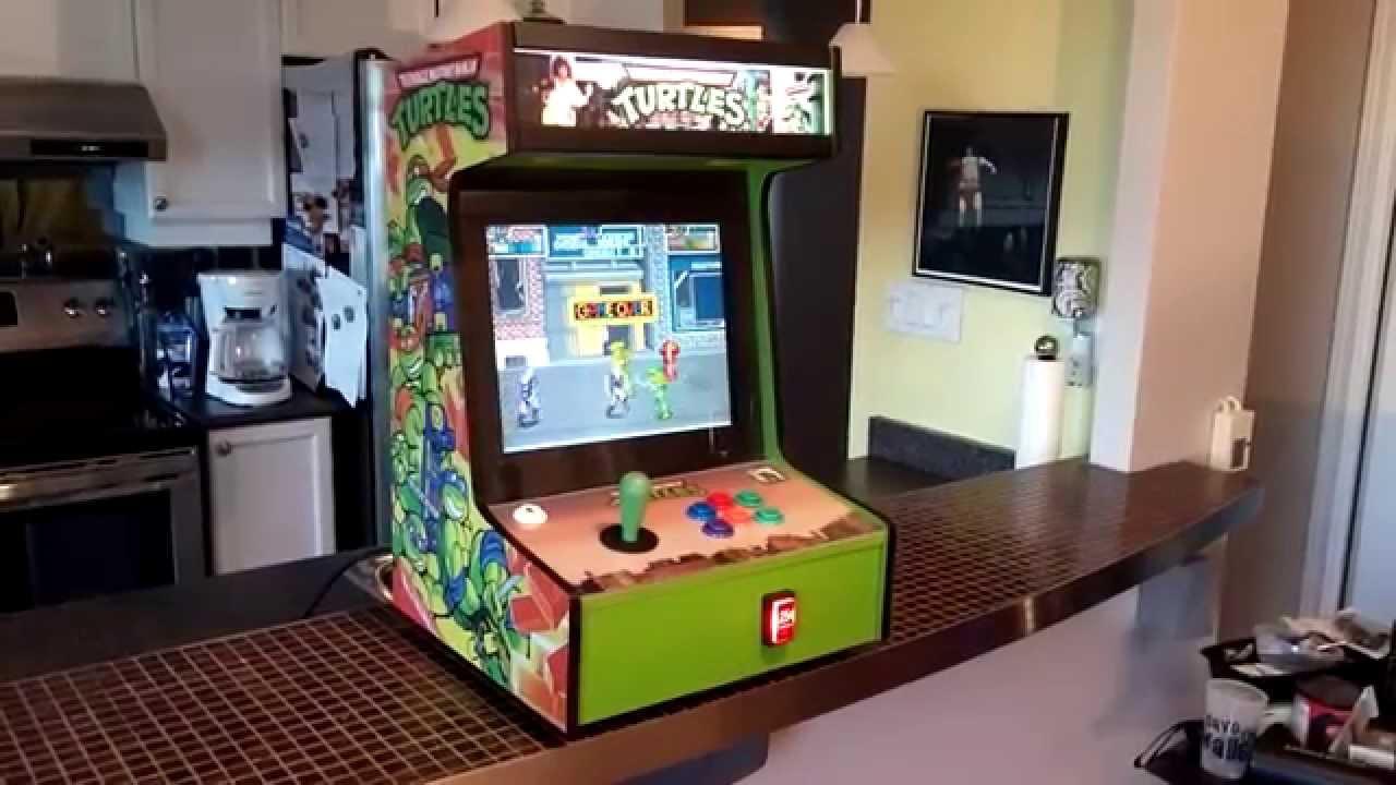 Ninja Turtles Arcade Cabinet Tmnt Bartop Arcade Youtube